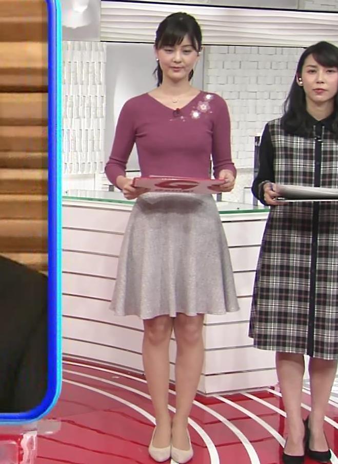 佐藤梨那アナ 日テレ美人アナのニットおっぱい♡キャプ・エロ画像4