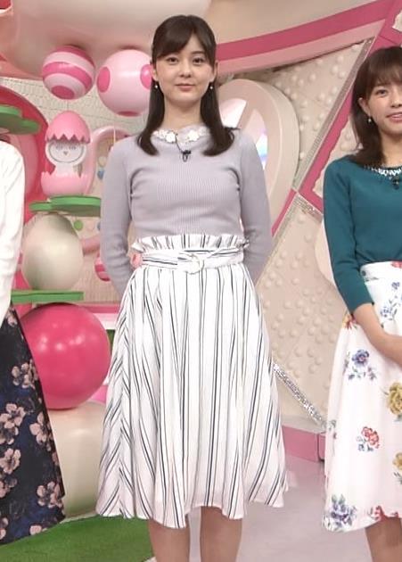 佐藤梨那アナ 日テレ若手美人アナのニットおっぱいキャプキャプ・エロ画像13