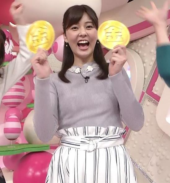 佐藤梨那アナ 日テレ若手美人アナのニットおっぱいキャプキャプ・エロ画像14