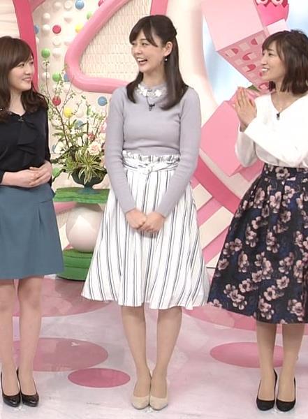 佐藤梨那アナ 日テレ若手美人アナのニットおっぱいキャプキャプ・エロ画像4