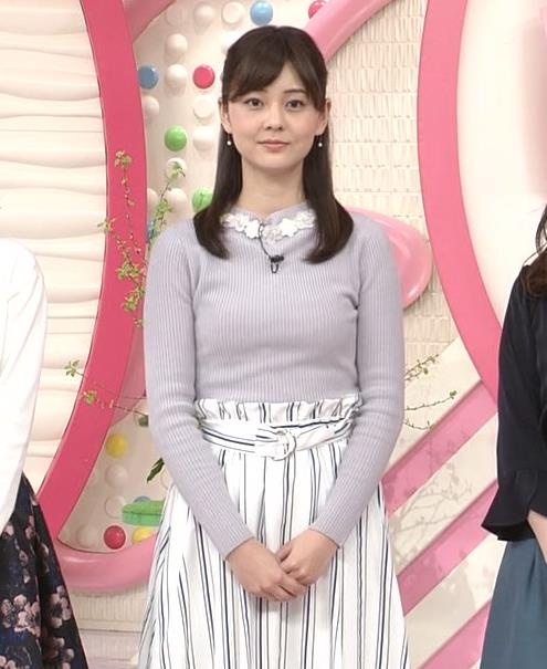 佐藤梨那アナ 日テレ若手美人アナのニットおっぱいキャプキャプ・エロ画像7