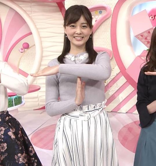佐藤梨那アナ 日テレ若手美人アナのニットおっぱいキャプキャプ・エロ画像8