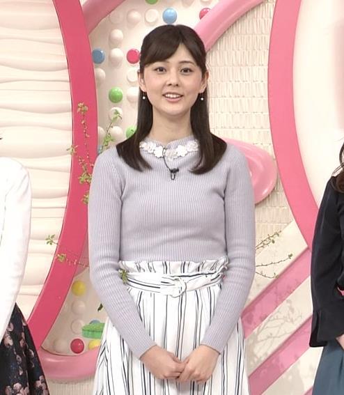 佐藤梨那アナ 日テレ若手美人アナのニットおっぱいキャプキャプ・エロ画像9