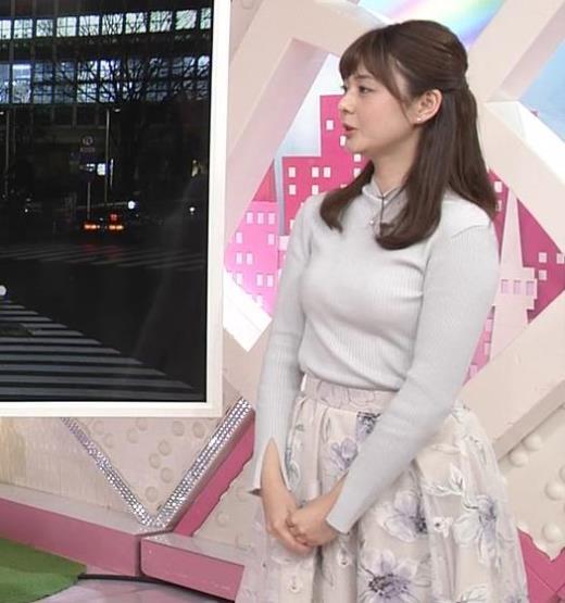 佐藤梨那アナ エロかわいいニット乳キャプ画像(エロ・アイコラ画像)