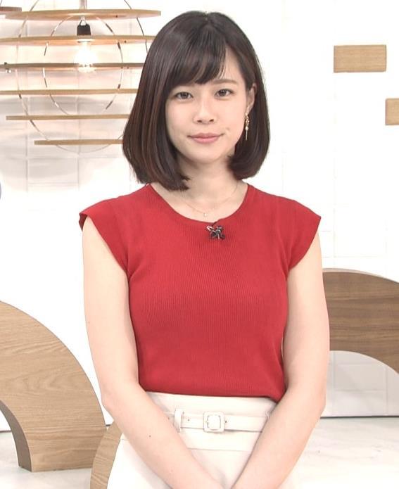 佐藤唯アナ ぴったりノースリーブのエロい横乳キャプ・エロ画像6