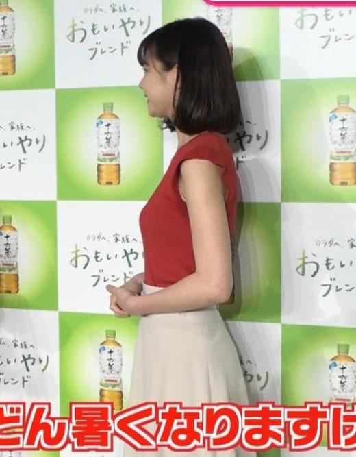 鈴木唯 ぴったりノースリーブのエロい横乳キャプ画像(エロ・アイコラ画像)