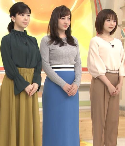 島本真衣アナ ニット巨乳キャプ・エロ画像