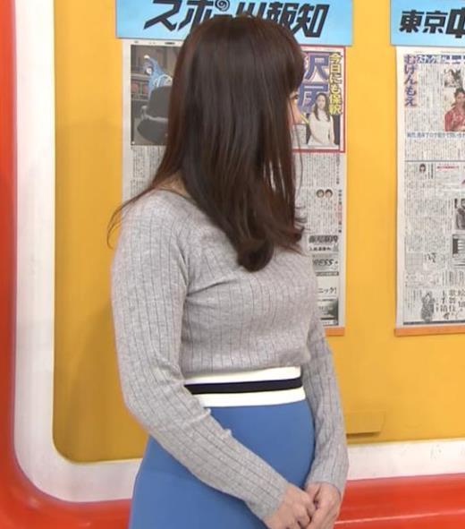 島本真衣アナ ニット巨乳キャプ画像(エロ・アイコラ画像)
