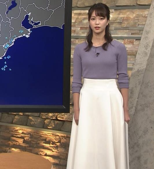 下村彩里アナ ニットおっぱいキャプ・エロ画像