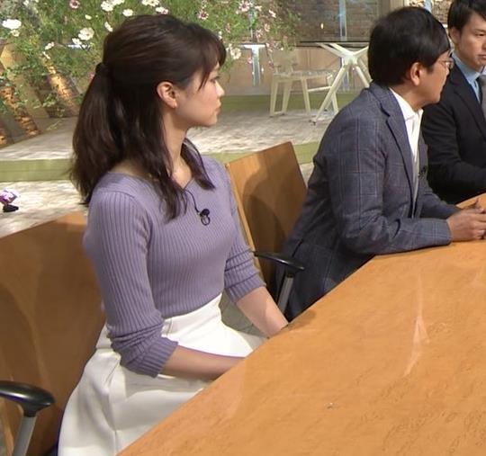 下村彩里アナ ニットおっぱいキャプ・エロ画像5