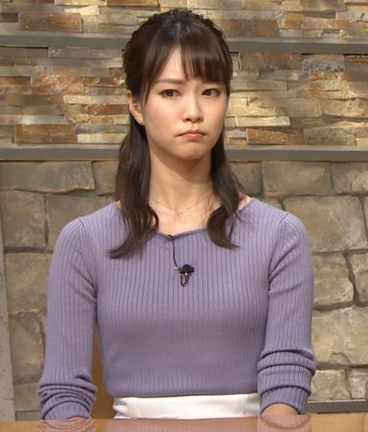 下村彩里アナ ニットおっぱいキャプ・エロ画像6
