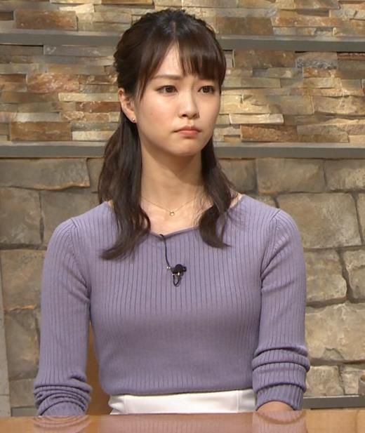 下村彩里アナ ニットおっぱいキャプ・エロ画像8