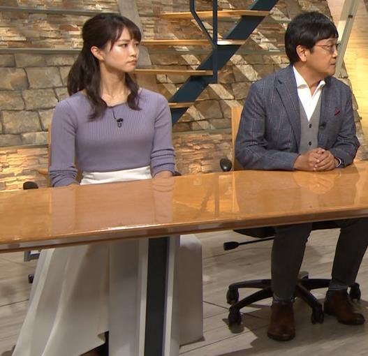 下村彩里アナ ニットおっぱいキャプ・エロ画像9