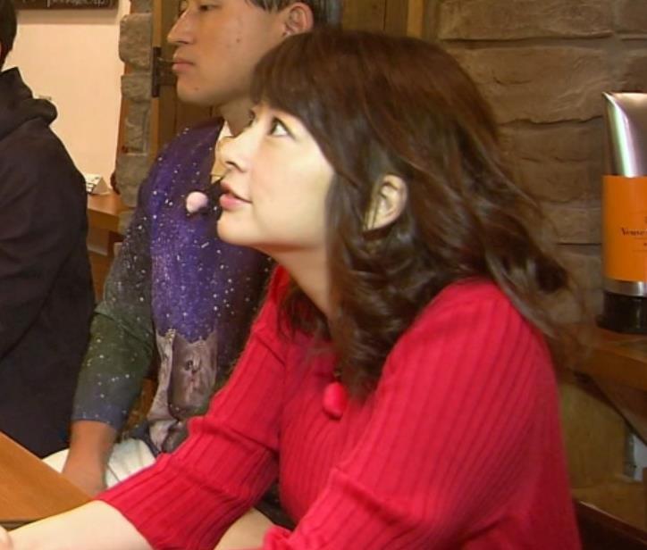 生野陽子アナ エロかったニットおっぱいキャプ・エロ画像
