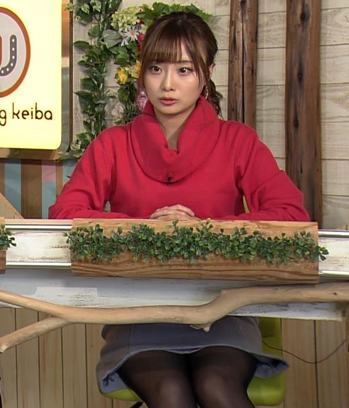 柴田阿弥 黒ストッキング・ミニスカ太ももキャプ・エロ画像2