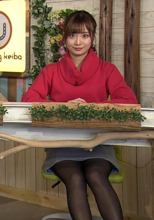 柴田阿弥 黒ストッキング・ミニスカ太ももキャプ画像(エロ・アイコラ画像)