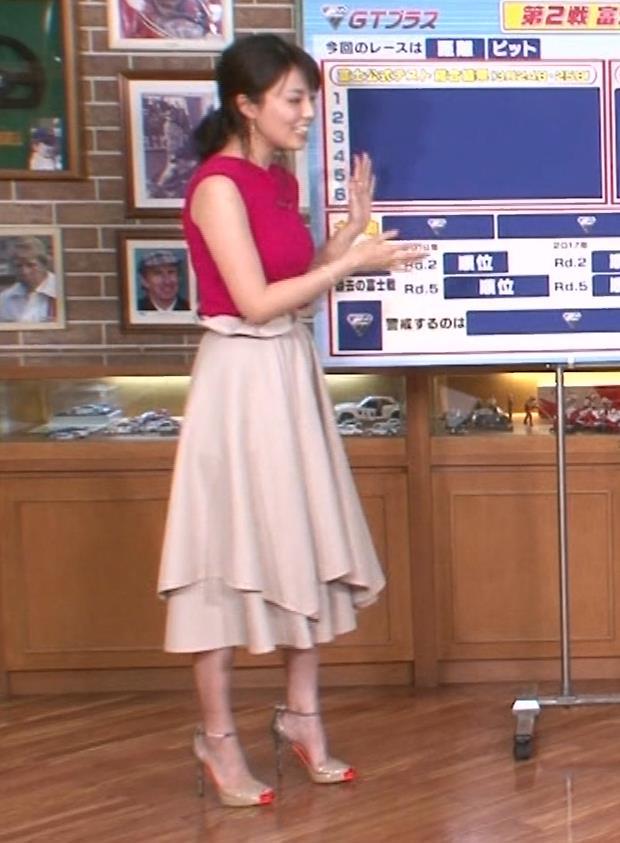 渋谷飛鳥 ノースリブニットのデカ乳キャプ・エロ画像2