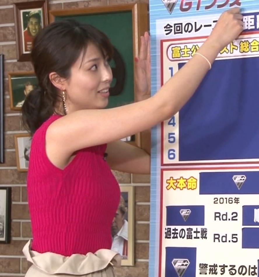 渋谷飛鳥 ノースリブニットのデカ乳キャプ・エロ画像5