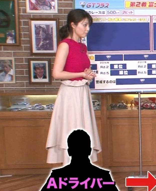 渋谷飛鳥 ノースリブニットのデカ乳キャプ・エロ画像6
