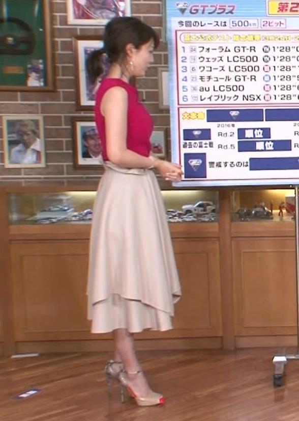 渋谷飛鳥 ノースリブニットのデカ乳キャプ・エロ画像7