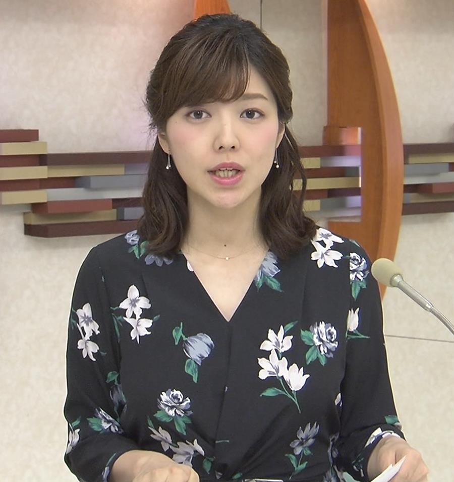 四位知加子アナ 縦じまシャツでパツパツおっぱいがエロ過ぎのローカル美人アナキャプ・エロ画像5
