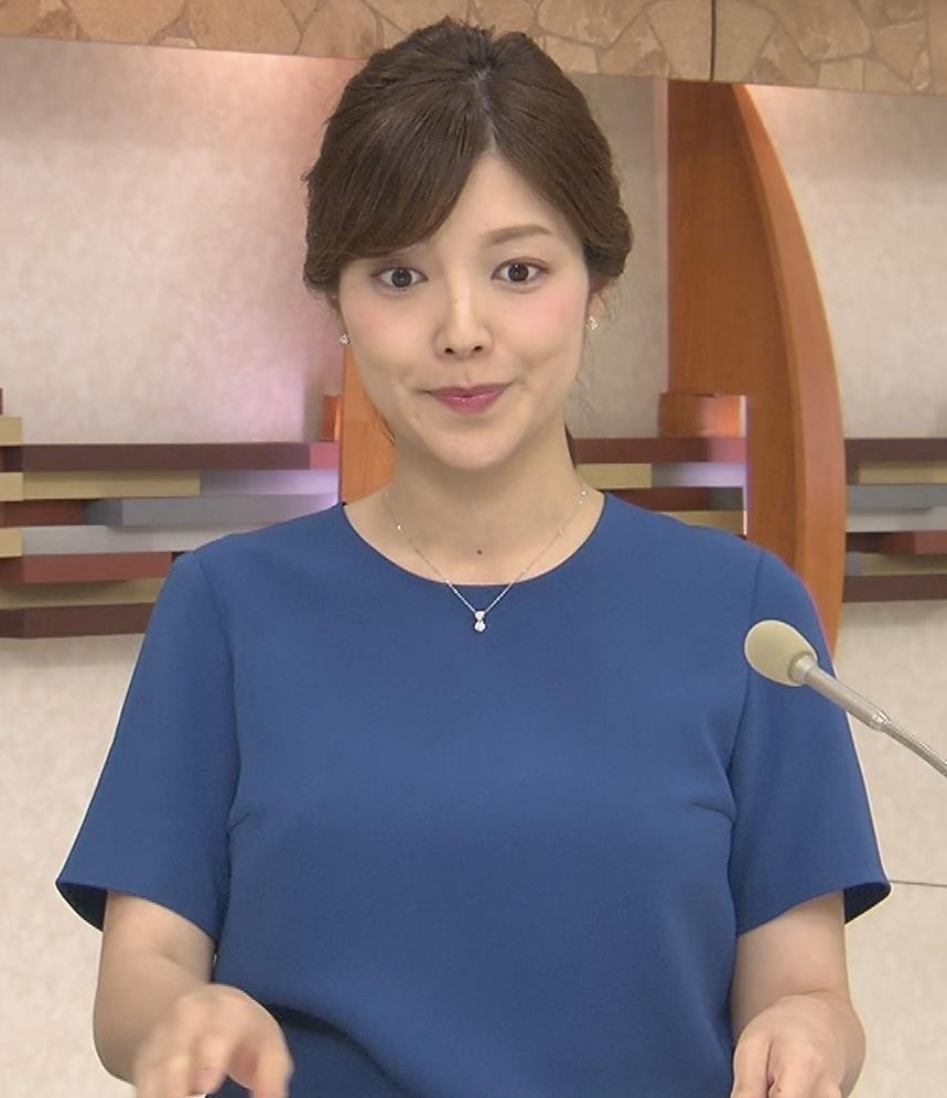 四位知加子アナ おっぱいがエロいTシャツキャプ・エロ画像5