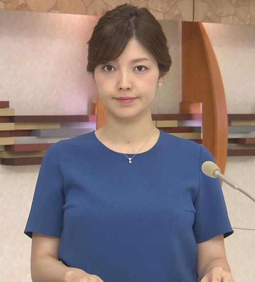 四位知加子アナ おっぱいがエロいTシャツキャプ画像(エロ・アイコラ画像)