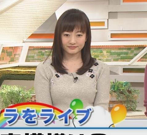 島本真衣アナ けっこうデカいニットおっぱい♡キャプ・エロ画像3