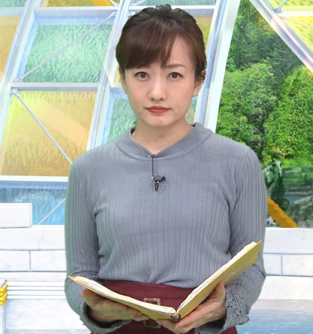島本真衣アナ ニット乳キャプ・エロ画像