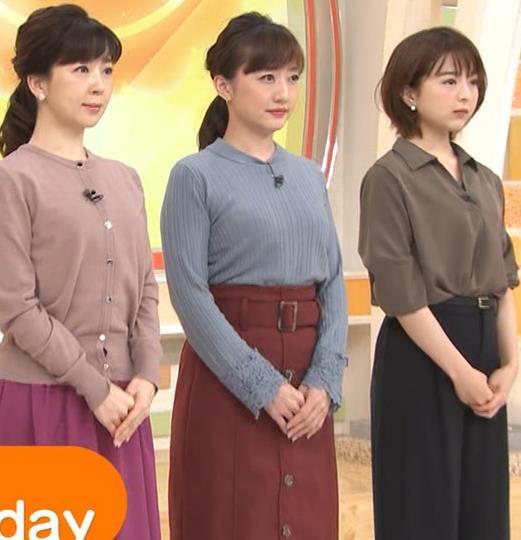 島本真衣アナ ニット乳キャプ・エロ画像2