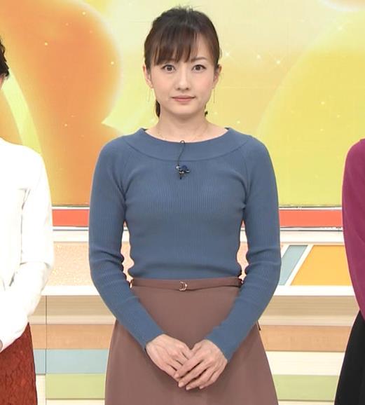 島本真衣アナ ピチピチのニットキャプ・エロ画像