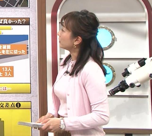 島本真衣アナ 乳がデカすぎキャプ・エロ画像