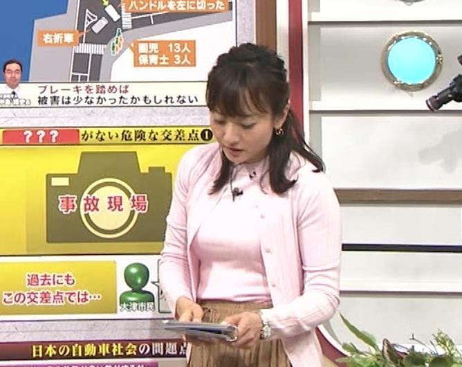 島本真衣アナ 乳がデカすぎキャプ・エロ画像4