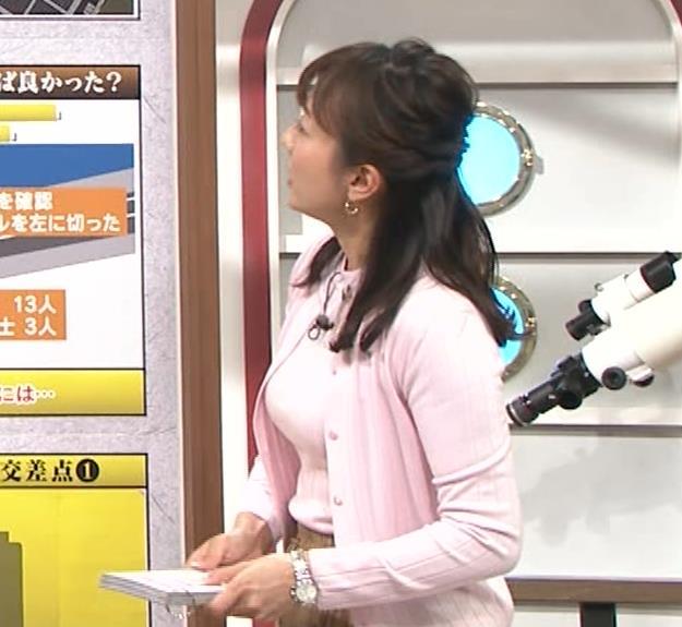 島本真衣アナ 乳がデカすぎキャプ・エロ画像6
