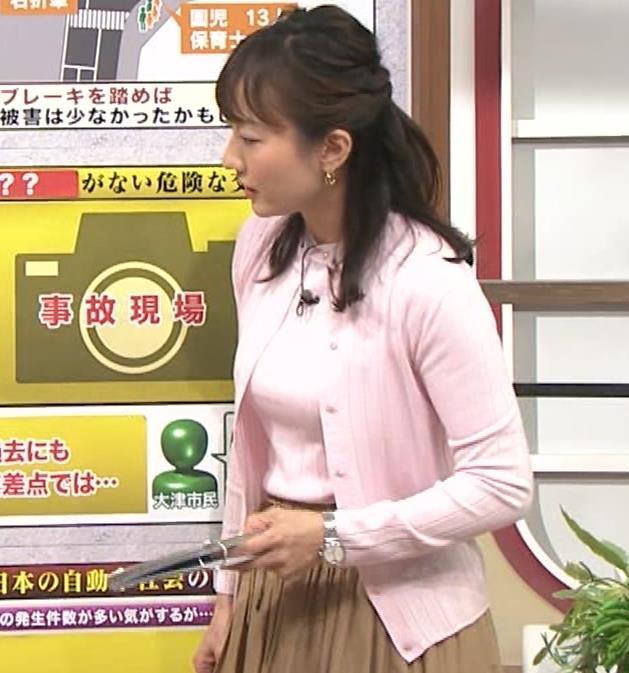 島本真衣アナ 乳がデカすぎキャプ・エロ画像7