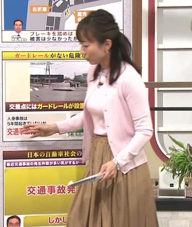島本真衣アナ 乳がデカすぎキャプ・エロ画像9