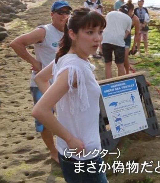 新川優愛 薄着の横乳キャプ画像(エロ・アイコラ画像)