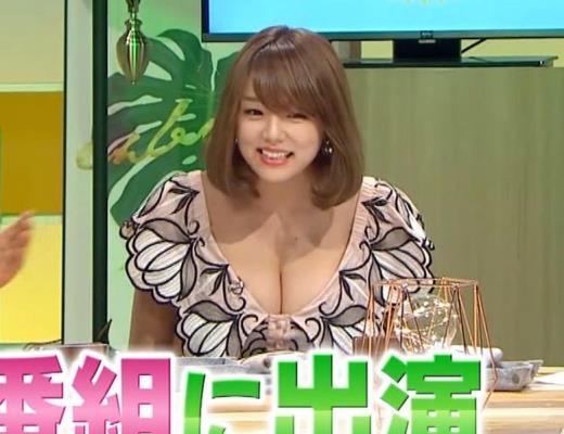 篠崎愛 韓国のテレビに出演するときのほうがおっぱい出しているみたい 「ナカイの窓」よりキャプ画像(エロ・アイコラ画像)