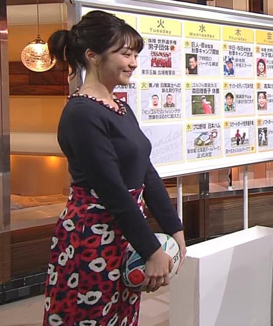 副島萌生アナ おっぱいがデカくてエロいぃキャプ・エロ画像11