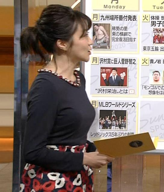 副島萌生アナ おっぱいがデカくてエロいぃキャプ・エロ画像7