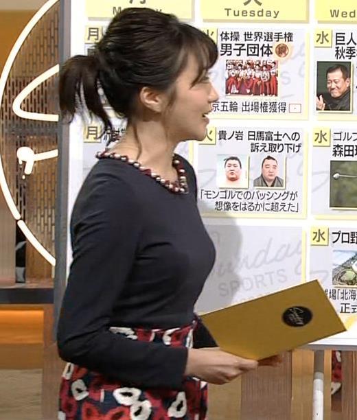 副島萌生アナ おっぱいがデカくてエロいぃキャプ・エロ画像8