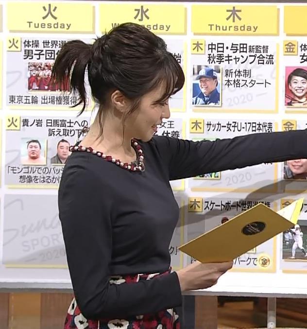 副島萌生アナ おっぱいがデカくてエロいぃキャプ・エロ画像9