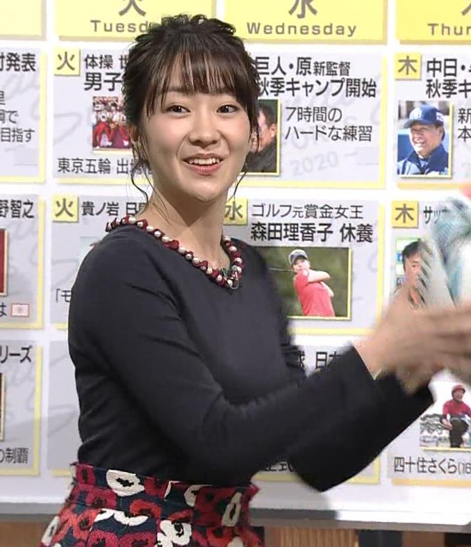 副島萌生アナ おっぱいがデカくてエロいぃキャプ・エロ画像10