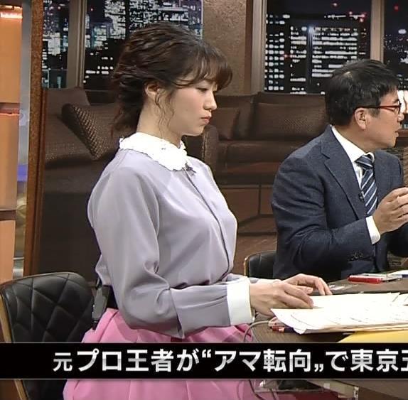 副島萌生アナ ゆったりめな服でも胸のデカさがわかるキャプ・エロ画像2