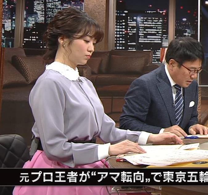 副島萌生アナ ゆったりめな服でも胸のデカさがわかるキャプ・エロ画像3