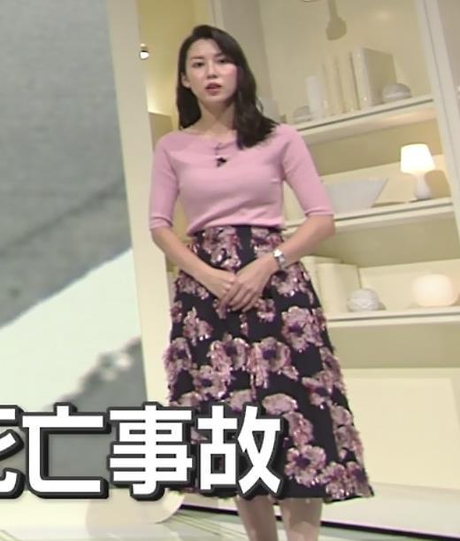 杉野真実アナ ニット乳がエロいキャプ・エロ画像