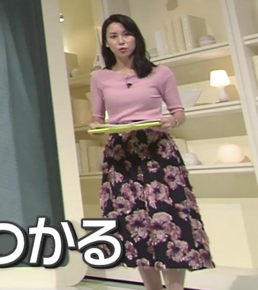 杉野真実アナ ニット乳がエロいキャプ・エロ画像2