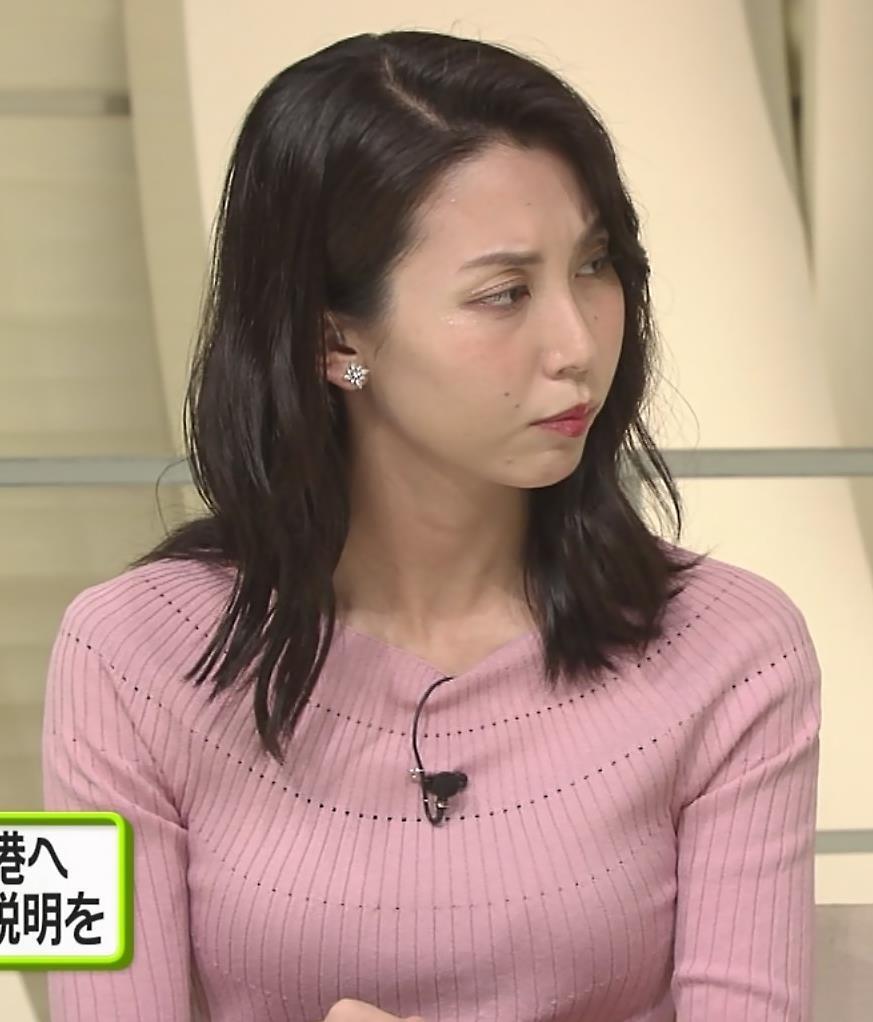 杉野真実アナ ニット乳がエロいキャプ・エロ画像5