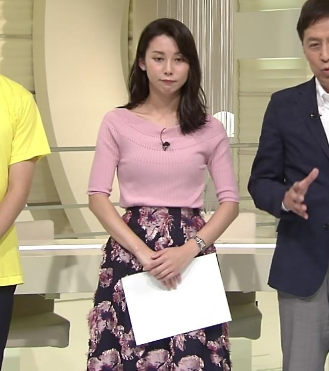 杉野真実アナ ニット乳がエロいキャプ・エロ画像6