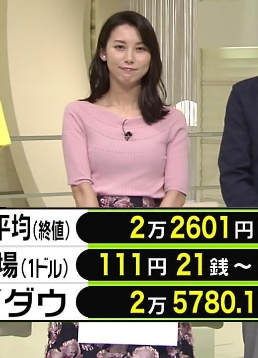 杉野真実アナ ニット乳がエロいキャプ・エロ画像7